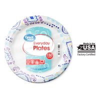 """Great Value Everyday Paper Plates, 10"""", 150 Count"""