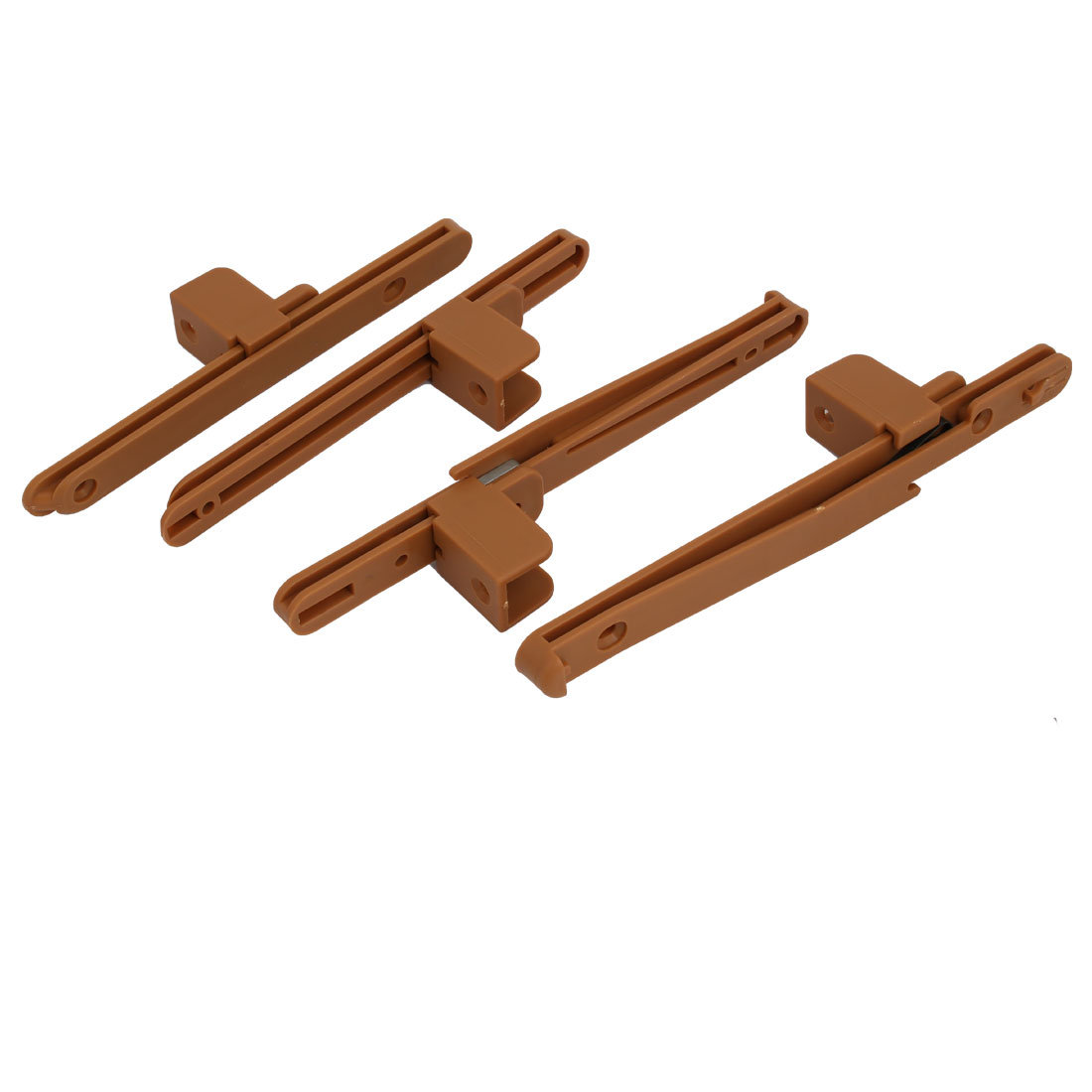uxcell Fence Lifter Lifting Rail Connection Set Brown w Screws
