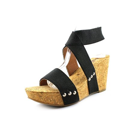 Lucky Brand Marinah Women Open Toe Canvas Wedge Sandal