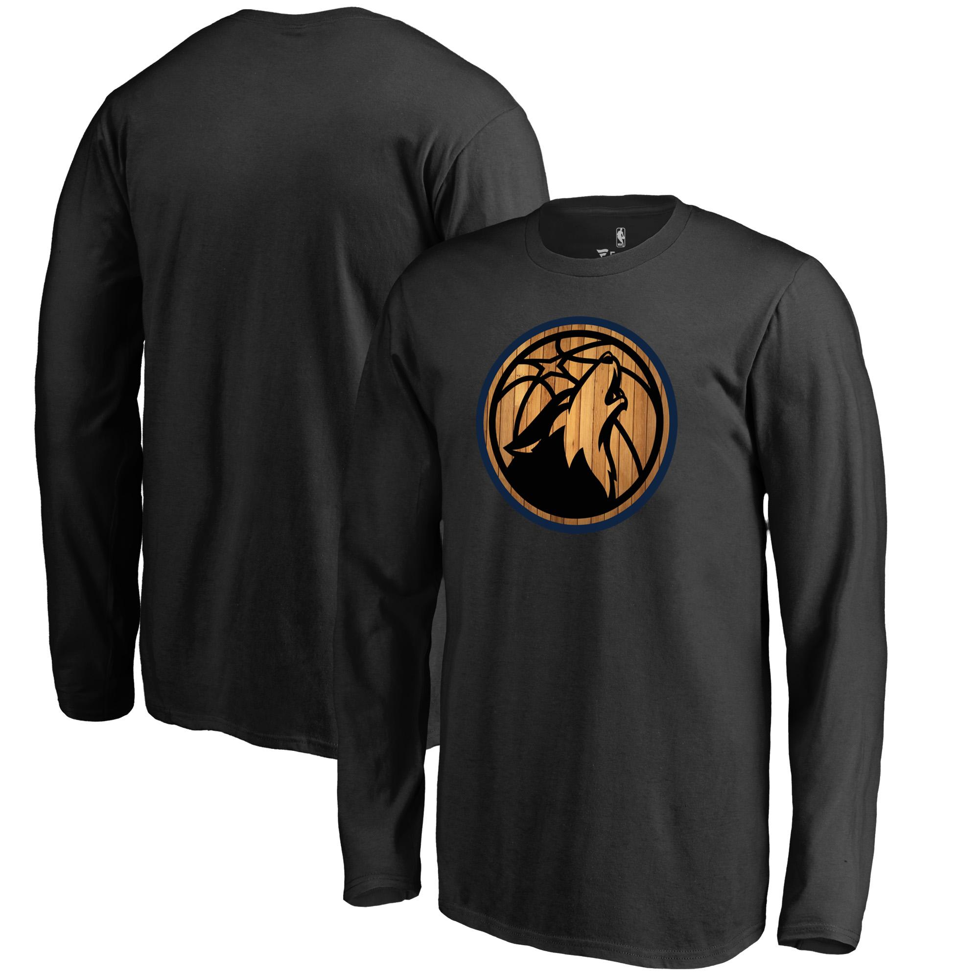 Minnesota Timberwolves Fanatics Branded Youth Hardwood Long Sleeve T-Shirt - Black