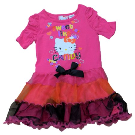 Dress Like Old Lady Halloween (Sanrio Toddler Girls Pink Tulle Hello Kitty Halloween Dress Sweet Like)