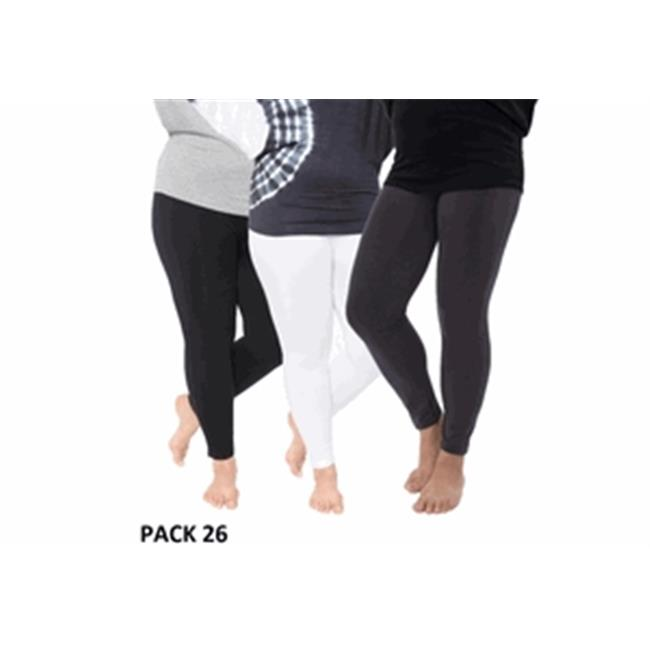 dec9813c3bf White Mark Universal Pack 26 Womens Plus Size Legging  44  Black ...