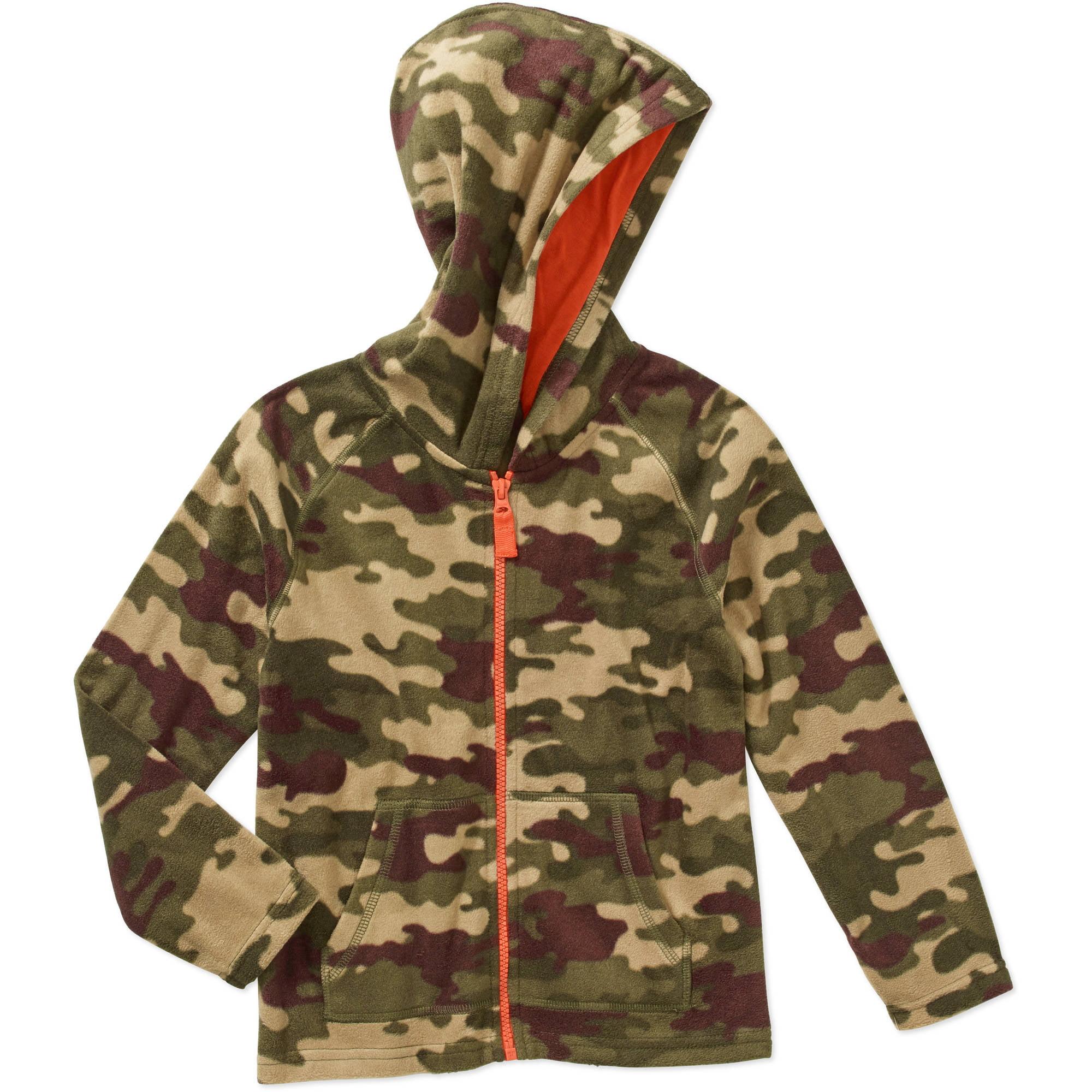 365 Kids From Garanimals Boys Printed Micro Fleece Full Zip Hooded Jacket