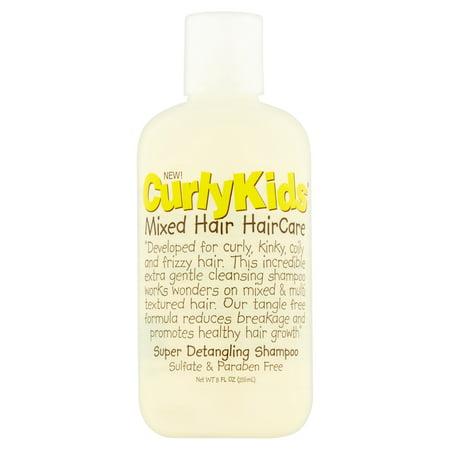 (2 Pack) CurlyKids Mixed Hair HairCare Super Detangling Shampoo, 8