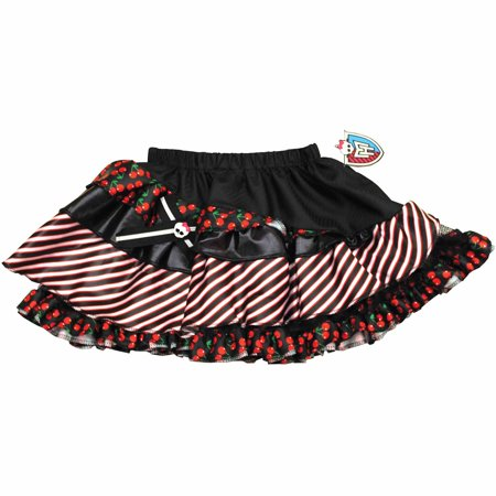 Monster High Petti Skirt - Black with Red (70's Halloween Cartoons)