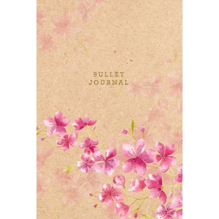 Bullet Journal : Floral Cherry Blosson Dot Grid Notebook 6x9 Dotted Bullet Journal Floral