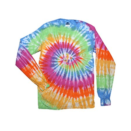 Tie-Dye Adult 5.4 oz. 100% Cotton Long-Sleeve T-Shirt - Tie Dye Shirts For Sale