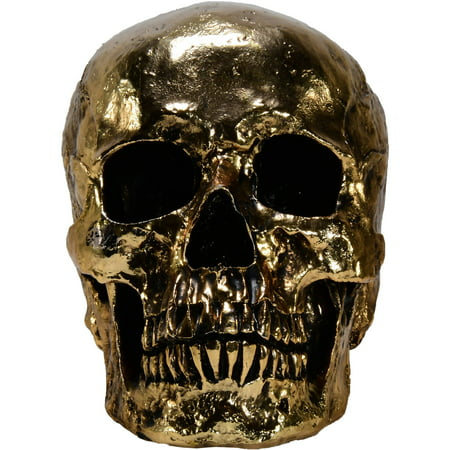 Halloween Skull, metallic skull, gold skull, gold metallic skull - Halloween Drawing Skulls