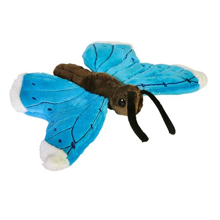 Dog 9 Inch Plush Stuffed Animal - Plush Blue Morpho Butterfly Pounce Pal Stuffed Animal 9 inch