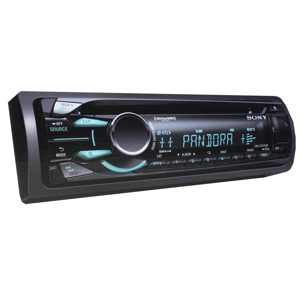 Sony CDXGT575UP CD/MP3 Car Stereo Receiver with Front Aux Input Pandora Control & Dynamic color illumination