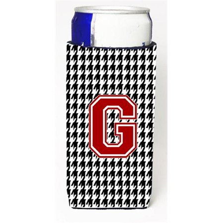 Carolines Treasures CJ1021-GMUK Monogram - Houndstooth Letter G Michelob Ultra s For Slim Cans - image 1 of 1