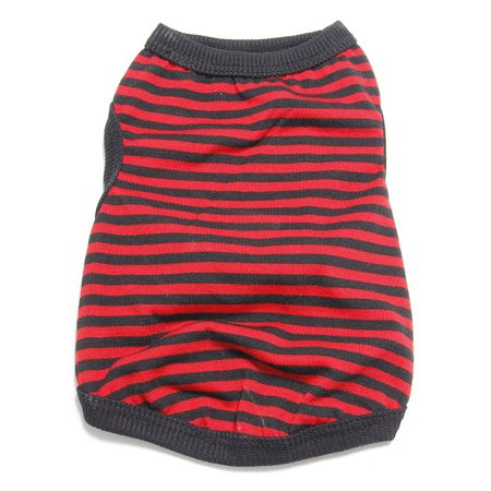 Fashionable Red Clothes Teddy Dog Colorful Strip Vest Pet Supplies For Dogs - image 2 de 8