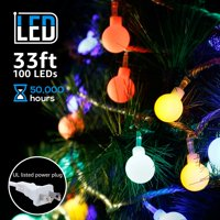 TORCHSTAR 33ft 100 LEDs Globe String Light Kit Decorative Lighting for Christmas, Thanksgiving, Party, Wedding