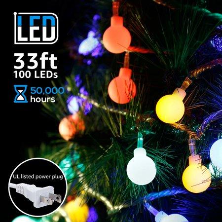 TORCHSTAR LED Globe String Lights for Valentines Day, Waterproof Outdoor String Lights, Christmas Lights for Party, Garden, Patio, Bedroom, Dorm, - Valentine Lights