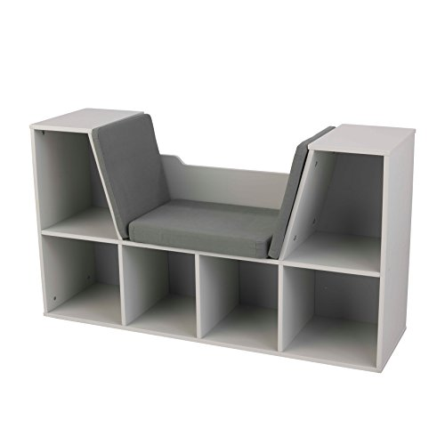 Kid Kraft Bookcase with Reading Nook, Gray