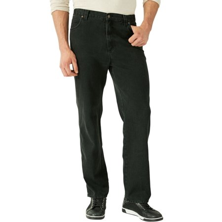 Liberty Blues Men's Big & Tall Liberty Blues Loose Fit Side Elastic 5-pocket - Blues Basic 5 Pocket Jeans