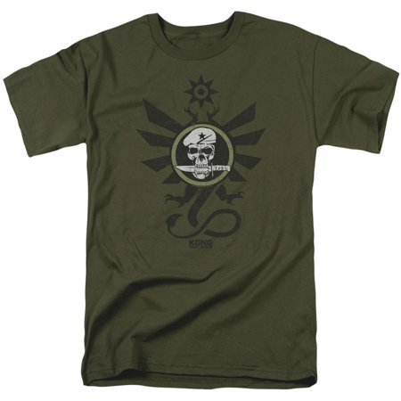 Kong Skull Island Mens  Sky Devils T Shirt Military Green