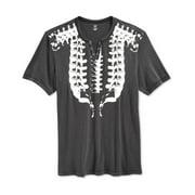INC NEW Dark Lead Gray White Mens Size 2XL Graphic Spine Print Tee Shirt $29
