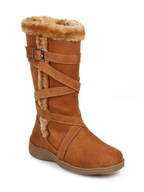 Little Angel DC59 Suede Fur Criss Cross Strappy Winter Boot (Toddler/ Little Girl/ Big Girl)