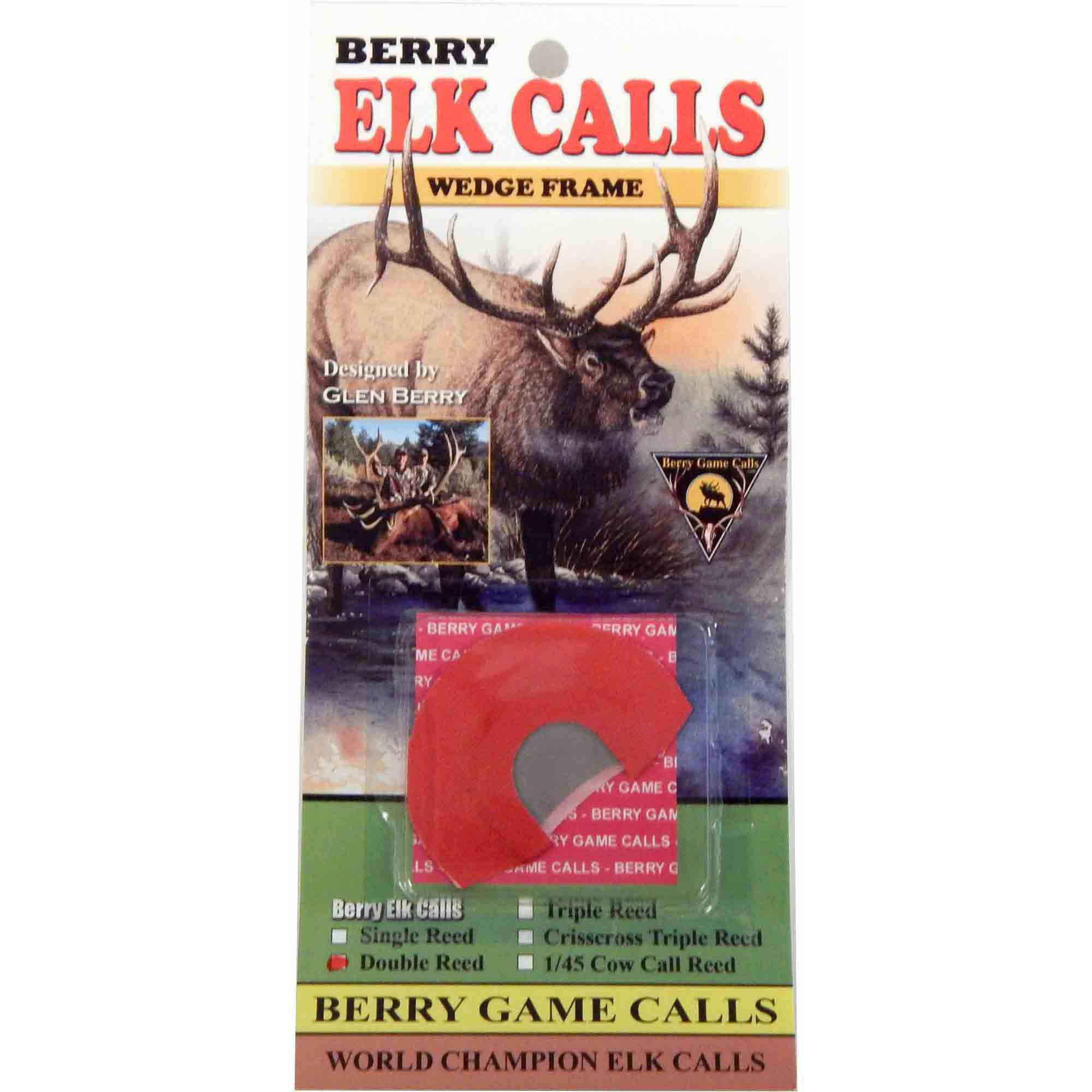 Berry Game Calls Wedge Frame Elk Calls, Double Reed by Berry Game Calls