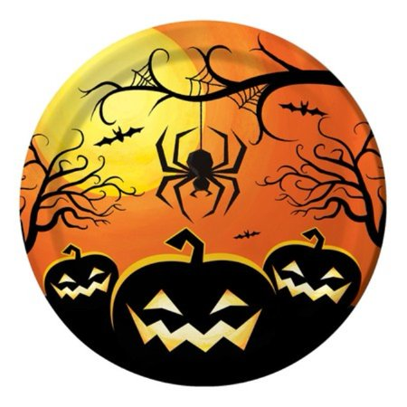 Haunted Night Halloween Pumpkin Spider 8 7