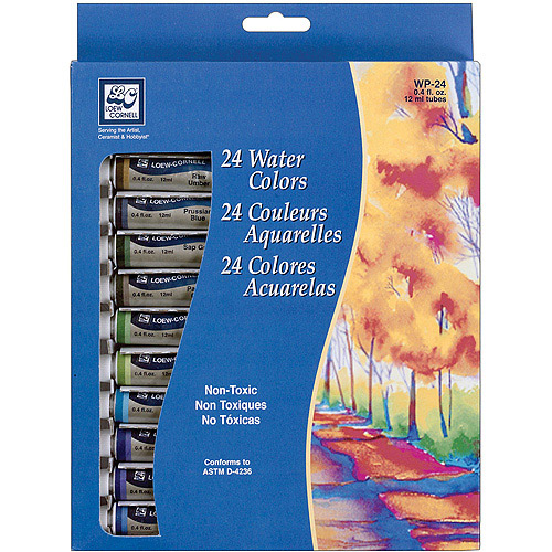 Loew-Cornell Watercolor Paint, 24Pk