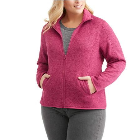 Swiss Tech Women's Plus-Size Fleece Sweater With Cozy Sherpa ...