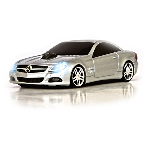 Road Mice Mercedes Benz SL550 Wireless Optical Mouse, Silver
