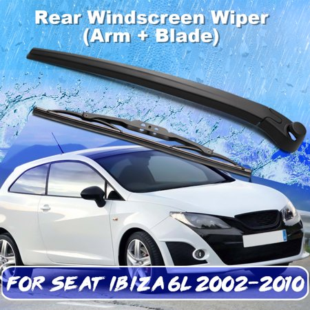 Rear Windshield Wiper >> Car Rear Windshield Window Wiper Arm Blade Set Rubber Black For Seat Ibiza 6l 2002 2010 6q6955707c Walmart Canada