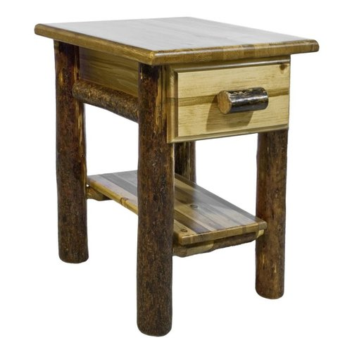 Montana Woodworks MWGCND Glacier Country Nightstand with Shelf and Drawer