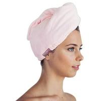 Kitsch Microfiber Hair Towel Wrap for Women- Hair Turban for Drying Wet Hair- Super Absorbent & Ultra Soft (Blush)