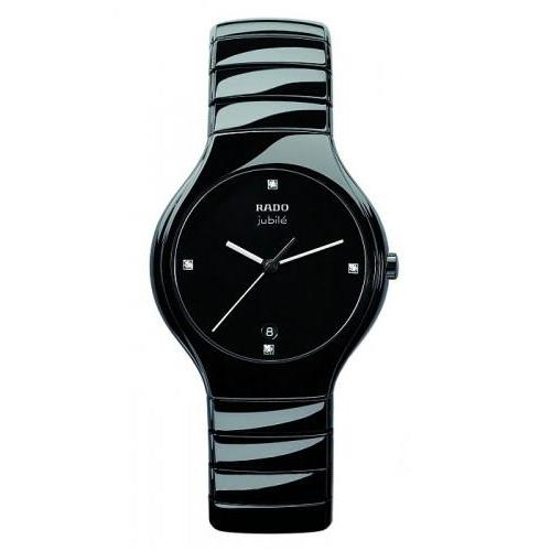 Rado True Jubile Black Ceramic Mens Watch R27653742