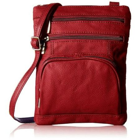 - AFONiE  Fashion Geneva Genuine Leather Crossbody Handbag