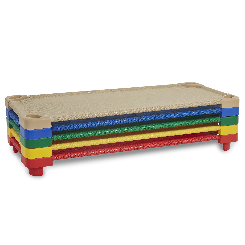 Standard Stackable Kiddie Cot 5-Piece Assorted by ECR4Kids