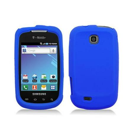 Blue Silicone Skin Case Cover for Samsung Dart - T499 Silicone Cover