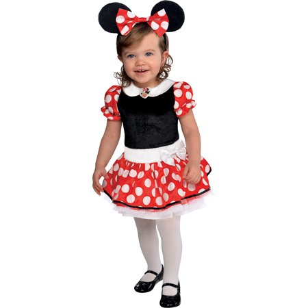 Minnie Mouse Toddler Halloween Costumes (Suit Yourself Red Minnie Mouse Halloween Costume for Babies, Includes)