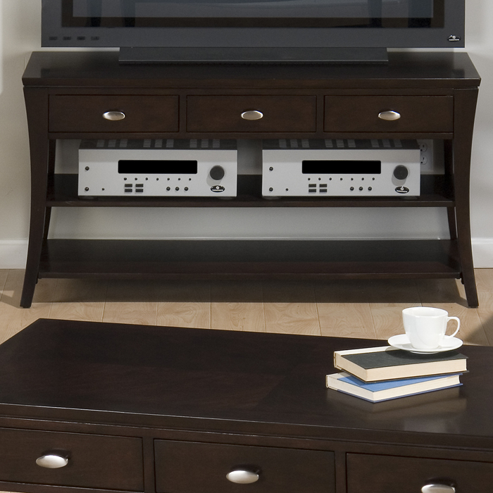 Jofran 629-4 Manhattan Espresso Sofa Table   Media Unit by