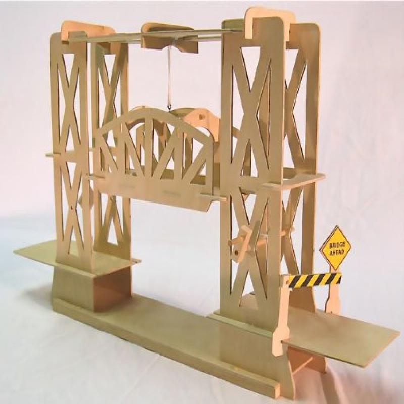 Pathfinders Truss Design Moving Lift Bridge Wood Kit