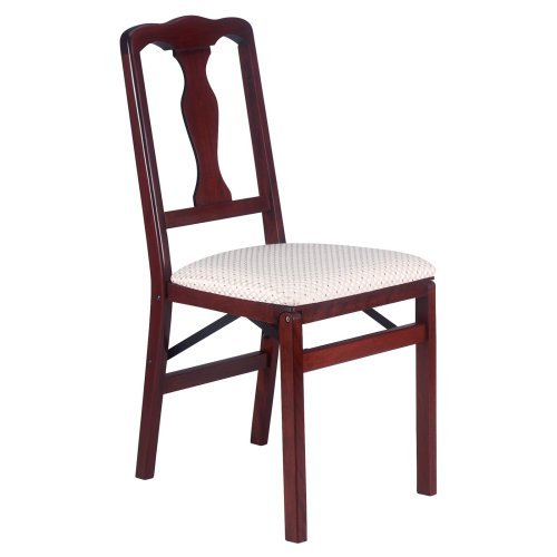 Meco Queen Anne Upholstered Folding Chair - Set of 2