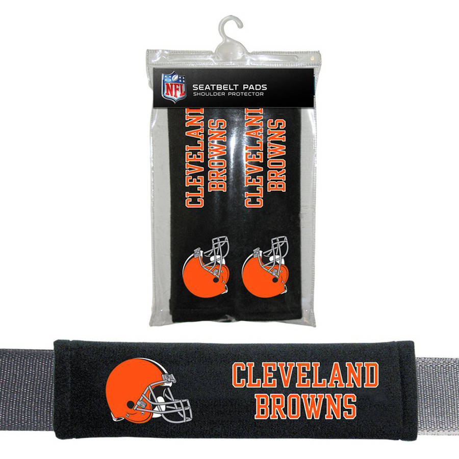 NFL Cleveland Browns Velour Seat Belt Pads
