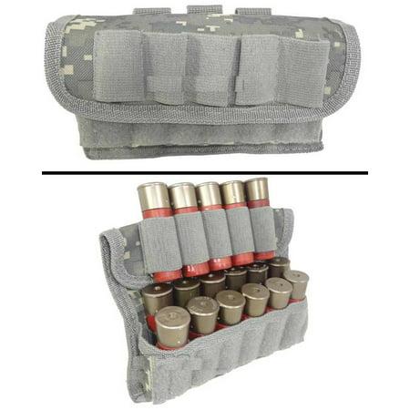 (Ultimate Arms Gear Tactical ACU Army Digital Camo Camouflage 17 Shot Shell Ammunition Ammo Reload Carrier Pouch MOLLE, PALS & Belt Loop Fits 12 20 GA Gauge KEL-TEC KSG 12 & 20 Gauge)