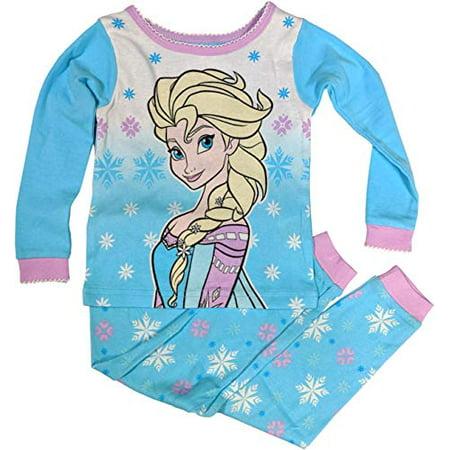 Disney Frozen Pajamas 2-Piece Long Sleeve Elsa PJs for Toddler Girls (5T) White