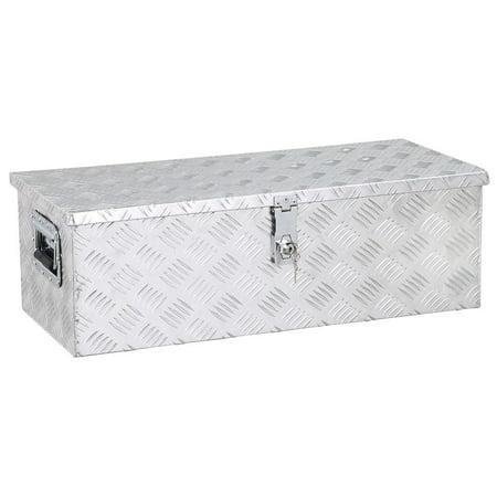 Yaheetech 30 x 13''Aluminum Tool Box w/Lock Pickup Truck Bed -