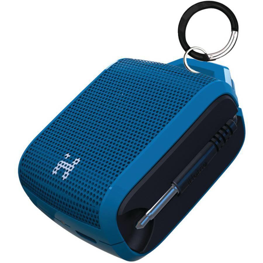 IHome iM54LBC Rechargeable Mini Speaker, Blue/Black