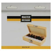 Master Mechanic 159081 Carbide-Tipped Router Bits, 6-Pc. Set - Quantity 1