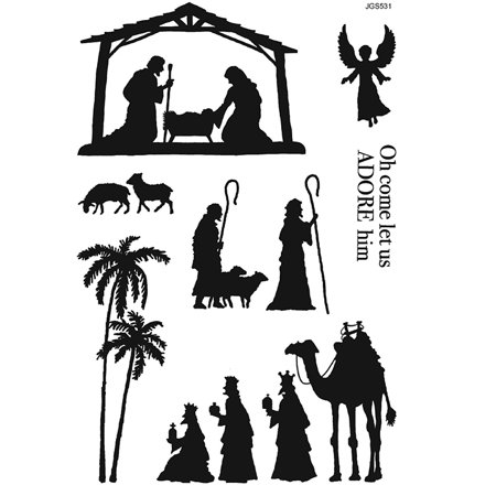 Nativity Silhouette (Woodware Clear Singles - Nativity Silhouette )