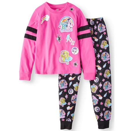 My Little Pony Girls' Poly 2-Piece Pajama Sleep Set - Cute Dresses For Girls 10-12