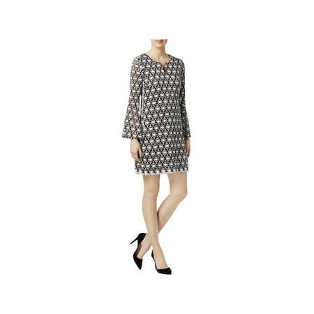 Signature By Robbie Bee Womens Petites Lace Party Cocktail Dress Black-Ivory PM - Bebe Party Dress