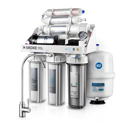 Ukoke 6 Stages Reverse Osmosis, Water Filtration System, 75 GPD with (75 Filtration)