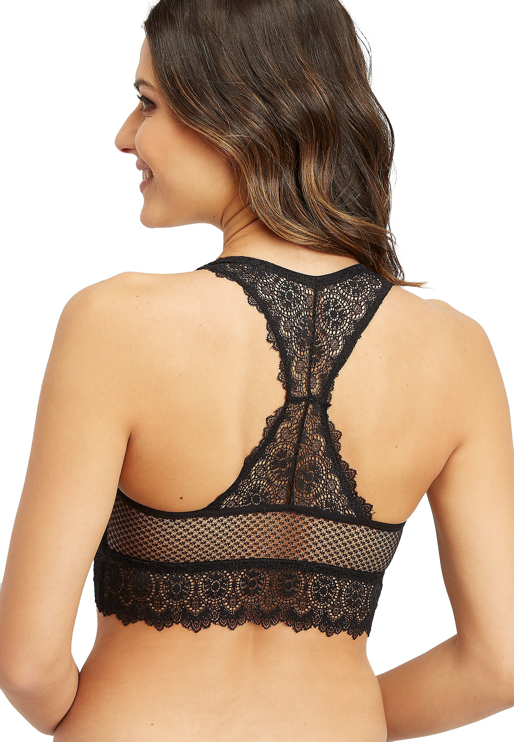 c862c5dcdf8a2 maurices - Knit Lace And Mesh Racerback Bralette - Walmart.com